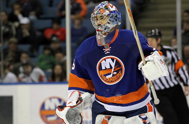 Rick DiPietro is no longer a member of the New York Islanders. (USATSI)
