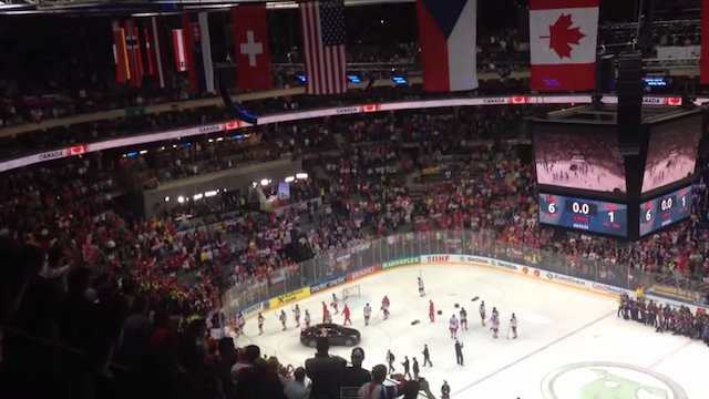 The Russian national team is facing sanctions for leaving the ice early. (YouTube)