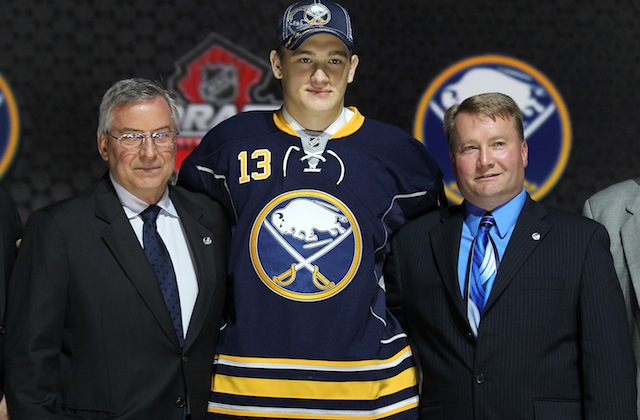 The current Buffalo Sabres uniform. (USATSI)