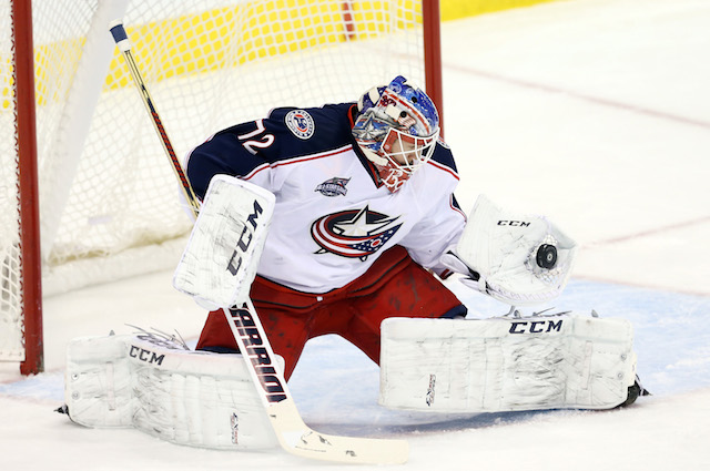 Blue Jackets goalie Sergie Bobrovsky will miss the 2015 All-Star Game due to a lower body injury. (USATSI)