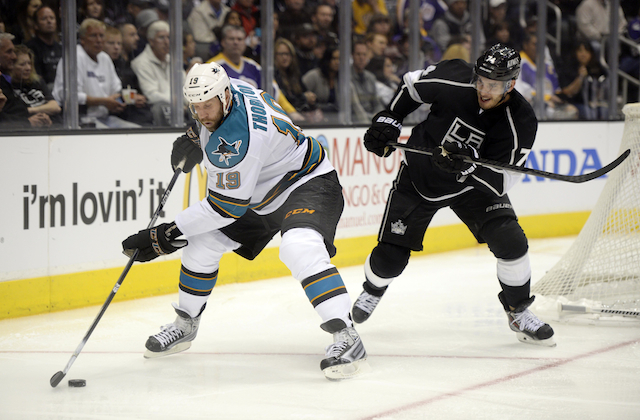Joe Thornton leads the Sharks into a second-round matchup with the Los Angeles Kings. (USATSI)