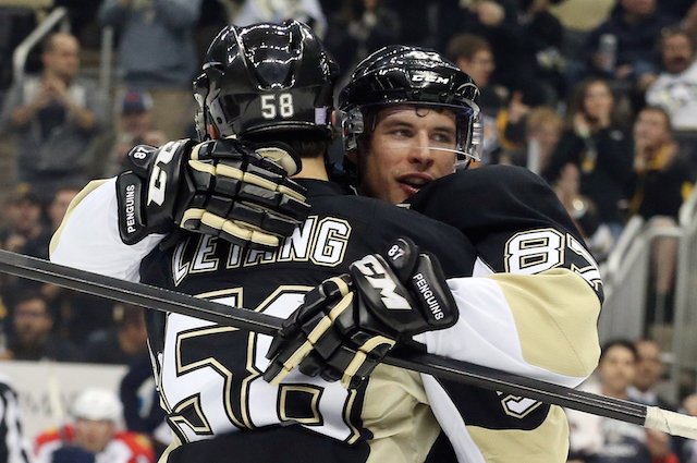 Pittsburgh Penguins captain Sidney Crosby scored his first goal of the season on Tuesday night. (USATSI)