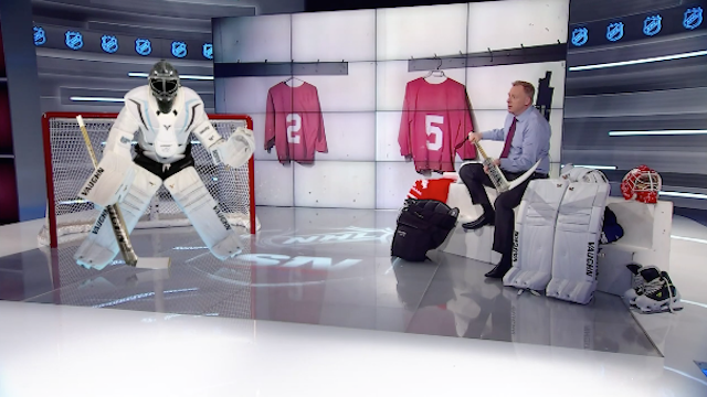 Former NHL goalie shows how pads can get smaller and stay safe