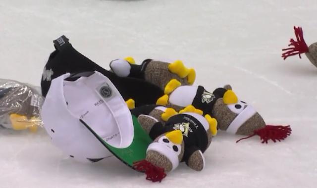 It is a Sock Penguin Trick. (NHL)