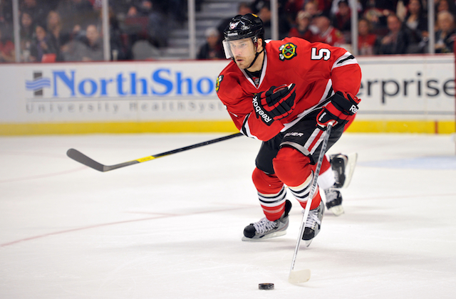 Steve Montador will be bought out by the Blackhawks. He still had two years remaining on his contract. (USATSI)