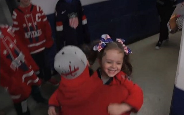 purchase cheap f8205 d3e01 WATCH: T.J. Oshie meets little Blues fan who sobbed after ...