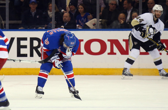 Mats Zuccarello Briefly Lost Ability To Speak After Taking Puck To Head Cbssports Com