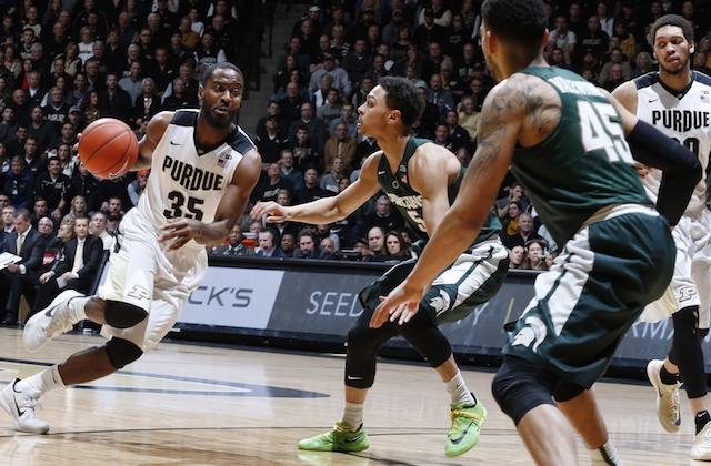 Purdue's Raphael Davis led the Boilermakers with 24 points vs. MSU on Tuesday.. (USATSI)