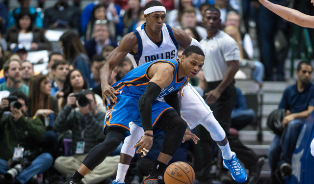 Rajon Rondo is accepting the challenge defensively in Dallas.  (USATSI)