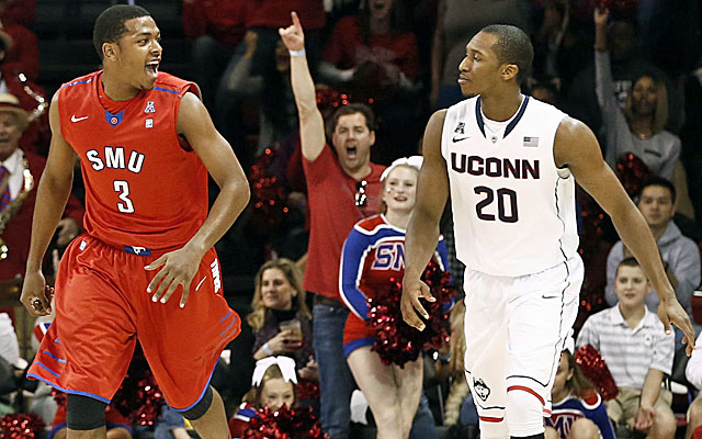 UConn lost consecutive games at Houston and SMU and dropped off most ballots, but not all. (USATSI)