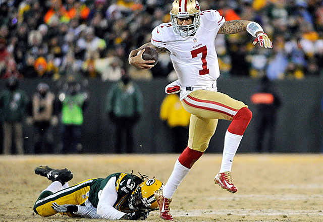 No team has won a title with a running QB like Colin Kaepernick, but they're getting closer. (USATSI)