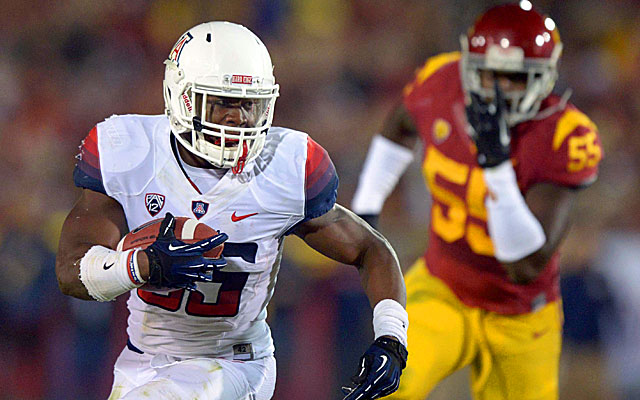 Ka'Deem Carey is the top-rated running back and the No. 41 overall prospect. (USATSI)