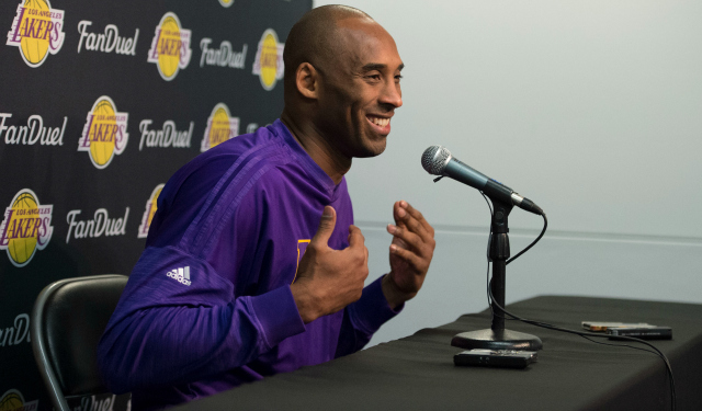 Kobe Bryant's farewell tour continues.  (USATSI)