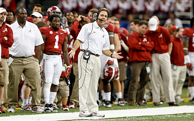 Auburn and Oklahoma are the only ones disrupting Nick Saban's  'process' at Alabama. (USATSI)