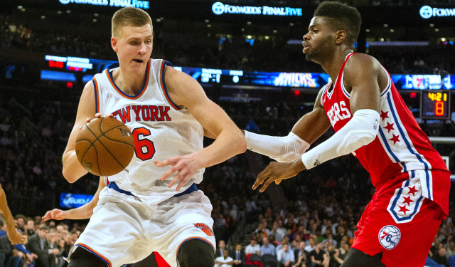 Kristaps Porzingis could have been teammates with Nerlens Noel.  (USATSI)