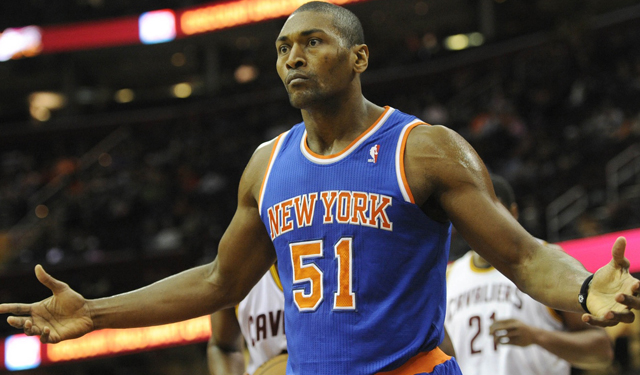 Metta World Peace doesn't seem to understand what happened with the Knicks.  (USATSI)