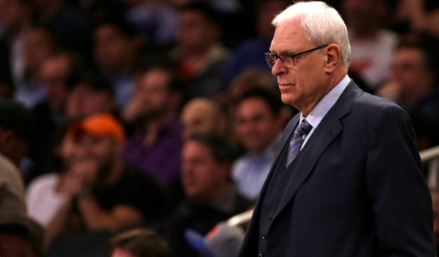 Phil Jackson's commitment to the Knicks is being questioned.  (USATSI)
