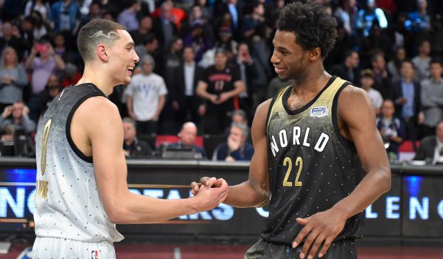 A couple of Rising Stars MVPs.  (USATSI)