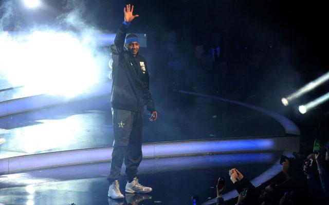 New York All-Star ambassador Carmelo Anthony struggles to shine