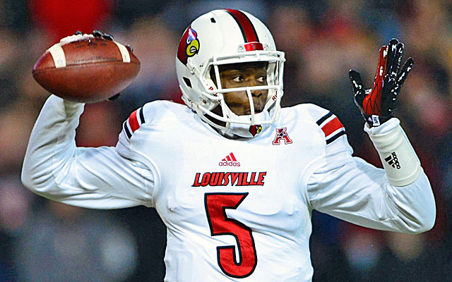 Teddy Bridgewater may join Johnny Manziel Derek Carr as projected first-round QBs who aren't throwing. (USATSI)