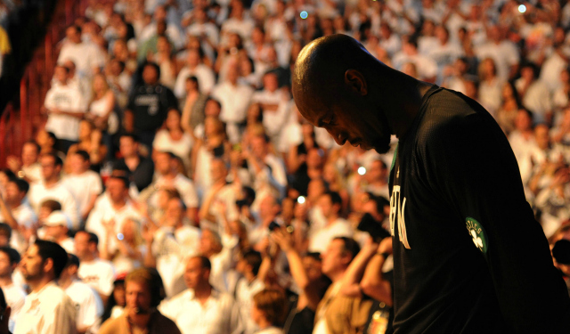 Kevin Garnett can't get over playoff losses with the Celtics. (USATSI)