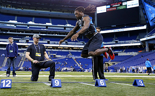 The combine is just the latest freakish display for South Carolina DE Jadeveon Clowney. (Getty Images)