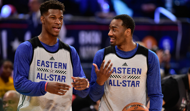 199836cf4d5d Jimmy Butler enjoys his first All-Star experience. (USATSI)