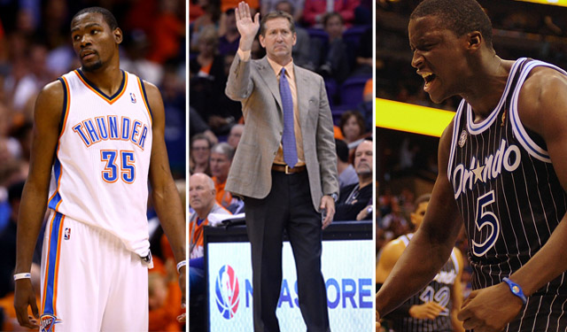 Will Durant, Hornacek, and Oladipo take home hardware this season? (USATSI)