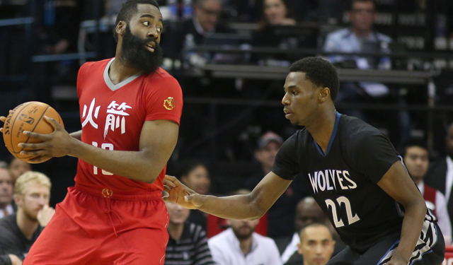 Wiggins has done well against Harden this year. (USATSI)