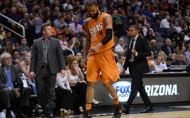 Tyson Chandler has had a rough year in Phoenix.  (USATSI)