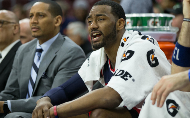 John Wall is frustrated with the position he's in.  (USATSI)