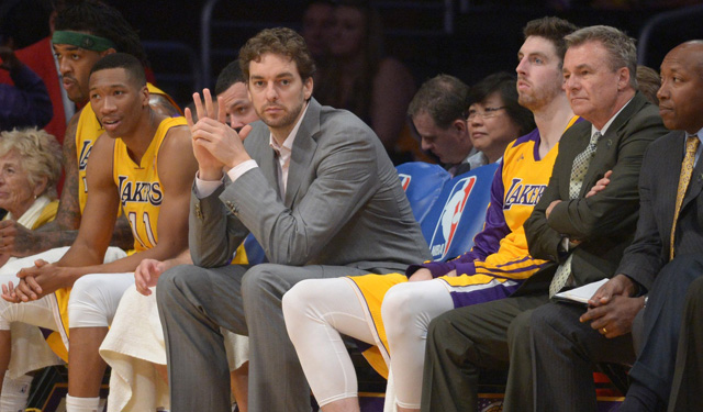 Gasol most likely won't return to play this season. (USATSI)
