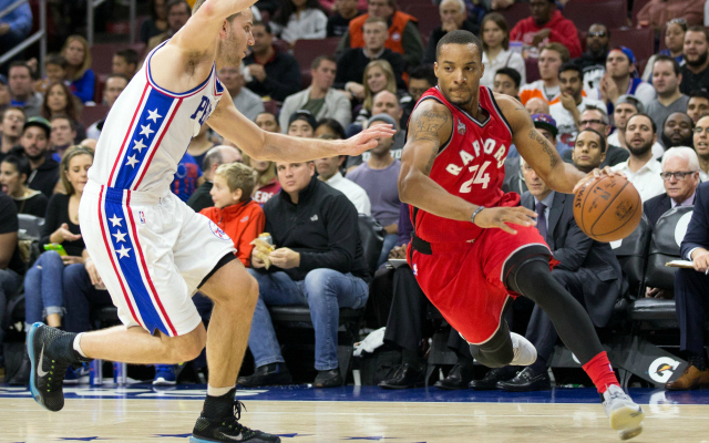 Norman Powell drives to the basket.  (USATSI)