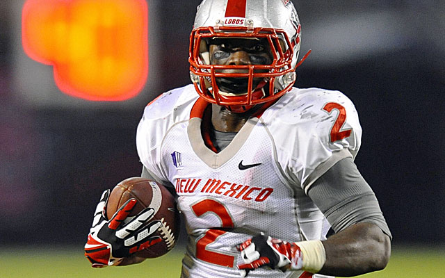 New Mexico running back Crusoe Gongbay rushed for 592 yards on 97 carries in 2013. (USATSI)
