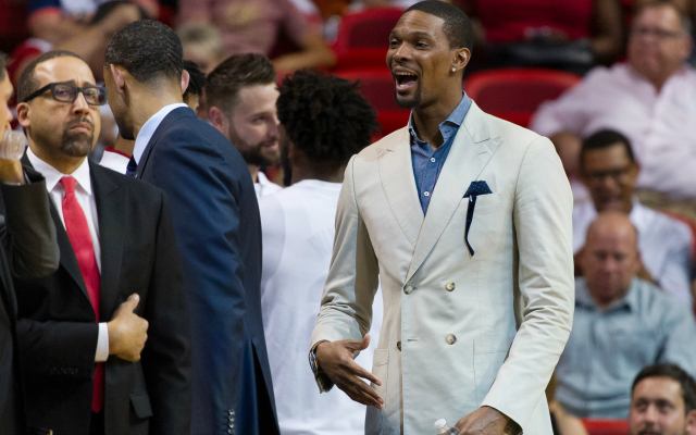 Chris Bosh is still out indefinitely.  (USATSI)