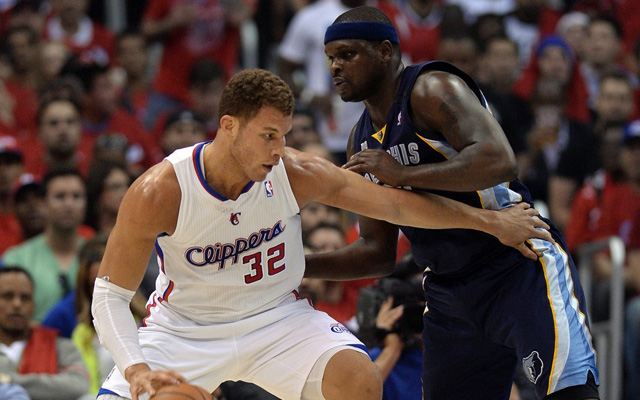 Zach Randolph and Marc Gasol are locked in an intense matchup.    (USATSI)