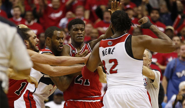 Bulls-Wizards was a bar fight in many ways. (USATSI)