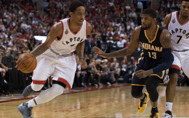DeMar DeRozan bounces back with 34 points in a Game 5 win.  (USATSI)