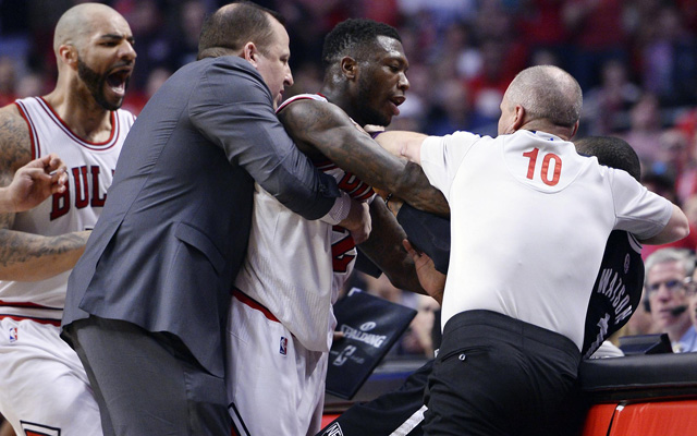 Nate Robinson wasn't going down without a fight. (USATSI)