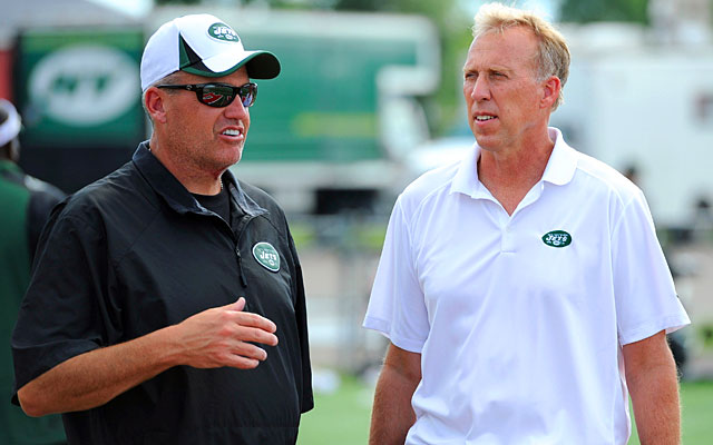 What will Rex Ryan and John Idzik do at the draft? With 12 picks, they have options. (USATSI)