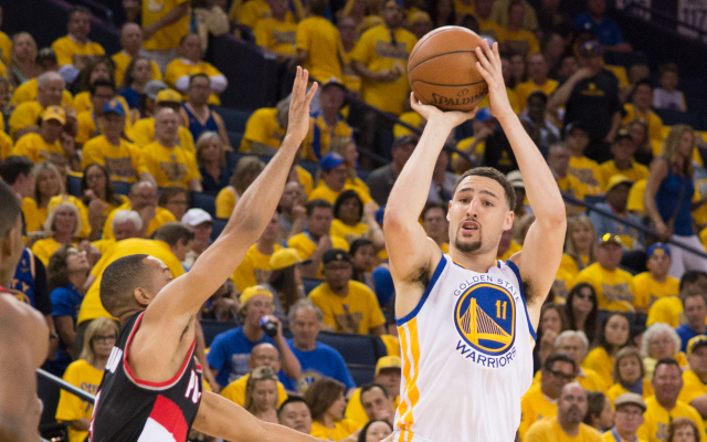 The Blazers have a lot of work to do to slow down Klay Thompson. (USATSI)