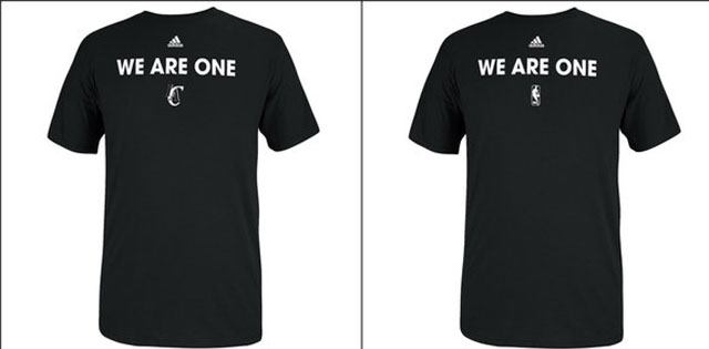 NBA selling 'We Are One' shirts to help anti-discrimination. (USATSI)