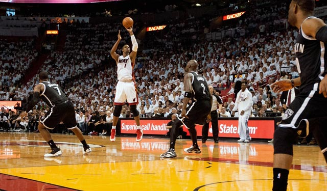 Bosh stretches the floor and understands spacing perfectly. (USATSI)