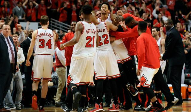 Derrick Rose Game Winner Derrick Rose and the Bulls