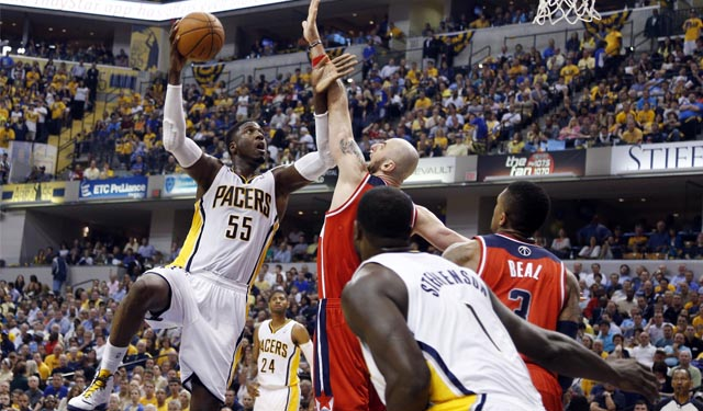 Hibbert's Game 2 turnaround came from smarter decisions. (USATSI)