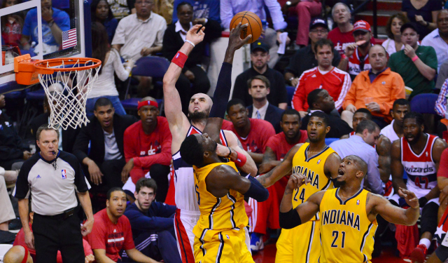 Roy Hibbert was a game-changer on Sunday, and a courtside fan changed things for him.