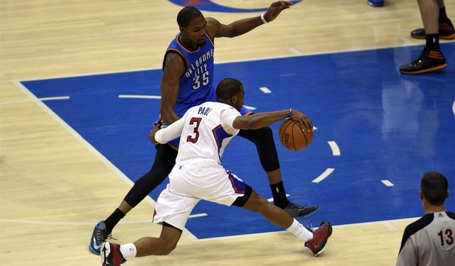 The Durant vs. Paul duel was a lot of fun. (USATSI)