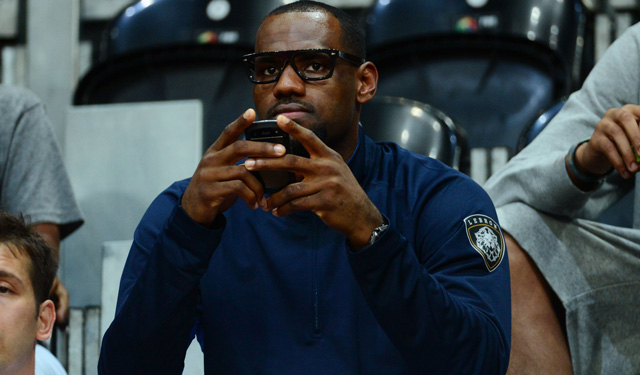 Is LeBron getting hacked or is he getting social? (USATSI)