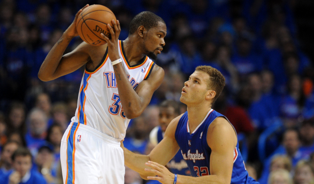 Durant should play lots of power forward against the Spurs.