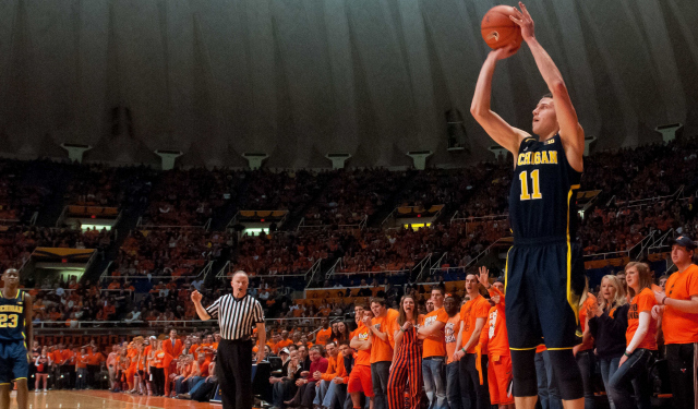 Nik Stauskas could have shot against Stephen Curry in his backyard.